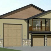 44x48 Apartment with 2-Car 1-RV Garage - PDF FloorPlan - 1,645 sqft - Model 5Q
